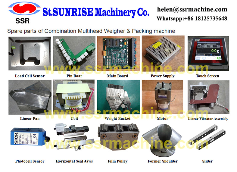 Spare parts of SSR Multihead weigher Vertical Packing machines.jpg