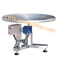 Automatic motorized packing rotary table for collecting goods