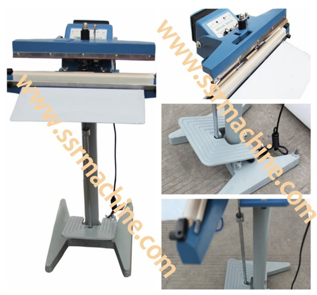 Semiauto Pedal & foot impulse sealing machine for pre-made bags